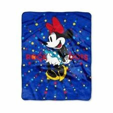 """Disney Minnie Mouse 'Rock the Dots' 40"""" x 50"""" Silky Soft Throw"""