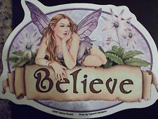 Lavender Fairy BELIEVE artist Selina Fenech Window Sticker NEW - FREE SHIPPING