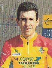 THIERRY DUPUY AUTOGRAPHE cyclisme Peugeot ciclismo SIGNATURE Cycling radsport