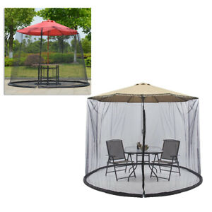 Patio Umbrella Cover Anti-bug Zippered Tabel Canopy Netting for Garden Outdoor