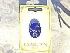 """New """" BELIEVE"""" CHRISTMAS BLUE & GOLD OVAL  LAPEL PIN"""" New in package"""