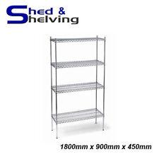 1800x900x450mm Chrome Wire Shelving Racking Shop Display Kitchen Storage