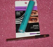 COVERGIRL THE SUPER SIZER FIBERS MASCARA #815 BROWN + FREE EYELINER BROWN