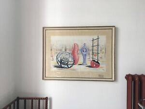 Henry Moore Lithograph 1949 School Print