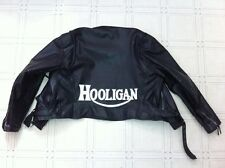 Hooligan 14 inch synthetic leather back patch w/b, 59 Club.Triumph.Cafe Racer
