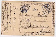 CHINA Tientsin 1908 Dragon Cover Postcard to New Caledonia, RARE destination!