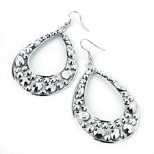 Hook Acrylic Alloy Oval Costume Earrings
