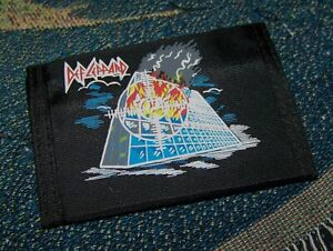 NEW Vintage Original 1980s DEF LEPPARD PYROMANIA LP Nylon Bi-Fold Wallet Black