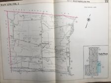 ORIG 1950 MAIN LINE, CHESTER CO. PA, WEST WHITELAND TWP, WHITFORD PLAT ATLAS MAP