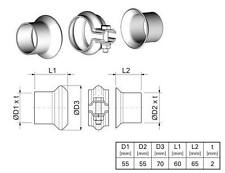 Kit reparation tube Echappement PEUGEOT 307 Break (3E) 2.0 HDI 110 107 CH