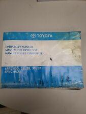Toyota Forklift 8fbcu20 25 28 30 32 8fbchu25 Operator And Owners Manual