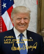 Personalized Donald Trump 8x10 Signed Photo Print Autographed Republican 2020