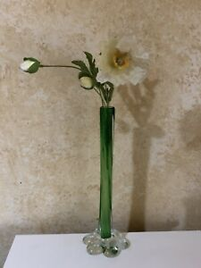 Lovely ~* Vintage Collectable Green Cased Glass Vase
