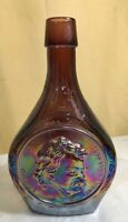 Wheaton Glass Samuel L Clemens Amethyst Carnival Glass Decanter Great American