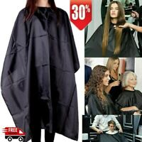 Salon Barber Cape Gown Hair Cutting Hairdressing Hairdresser Cloth Solid Black