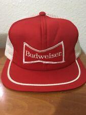 Vtg Budweiser Beer Trucker Hat Cap Snapback USA Foam Mesh Rare 80s Nice