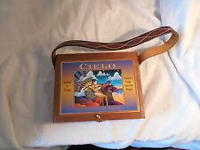 Handmade TOS wood cigar box purse hand bag signed & numbered 000130