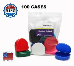 YOU PICK COLOR Element RETAINER CASES 100 PACK Braces Orthodontic Dental
