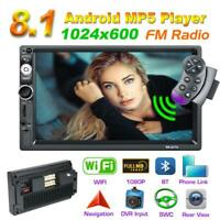 2DIN 7 inch Touch Android 8.1 Quad Core Car Stereo MP5 Player GPS  WIFI FM Radio