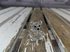 "swarovski block bear small cub crystal standing rare vintage vtg 1.25"""
