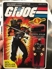 Black Major Gi Joe Cobra Storm Shadow 1984 Black Shadow Red Logo 🔥L👀K ! Mint