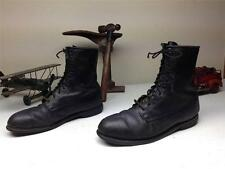 BLACK LEATHER COVE 1981 LACE UP MILITARY MOTORCYCLE COMBAT ARMY BOOTS SZ 10.5 R