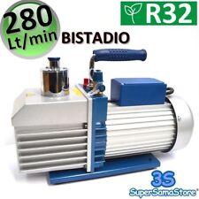 3S POMPA del VUOTO ALTO VUOTO BISTADIO 280 LT/min 10.0 CFM IMPIANTI R32 R410A ..