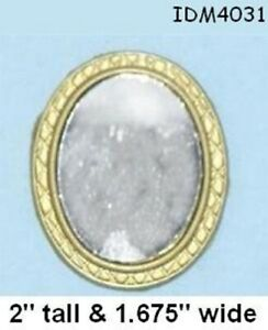 OVAL WALL MIRROR 1:12 SCALE DOLLHOUSE MINIATURES