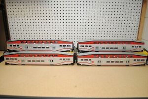 K-Line K4636 Caltrain Bombardier Control Car & Passenger Coaches *O-Scale*
