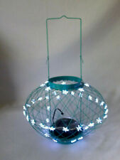 In & Outdoor TEAL Solar Lantern Star LED Hanging Light Garden Patio Decor Large