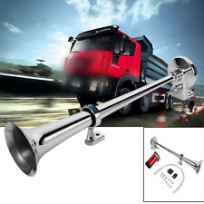 Super Loud Trumpet Car Vehicle Truck Air Horn 12V Compressor 150dB Train Kit