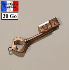 1 Clé USB 2.0 NEUVE en Métal 30Go ( USB Flash Drive 30Gb ) - Clé avec coeur Key