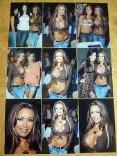 SET OF 9 4X6 PHOTOS OF  SEXY ADULT ACTRESS CRISSY MORAN,NICE BOOBS