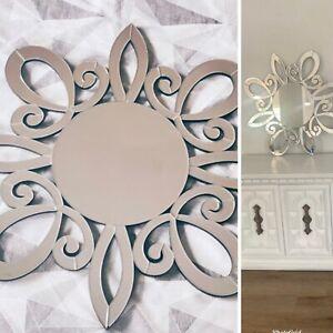 Decorative Crystal Wall Mirror, Vanity Beveled Mirror, Crystal Mirror 32x32
