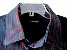 KENNETH COLE NEW YORK MENS BUTTON FRONT DRESS SHIRT MULTI COLOR SIZE XL MSRP $89