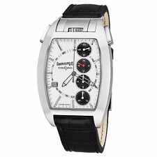 Eberhard Men's Chrono 4 Temerario Leather Strap Swiss Automatic Watch 31047.8