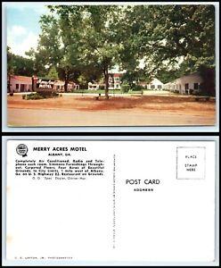 GEORGIA Postcard - Albany, Merry Acres Motel L49