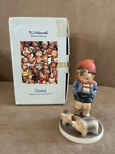 Hummel Farm boy with pigs Figurine Goebel Vintage #66 in box 935 vintage
