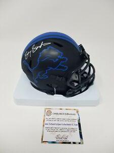 Barry Sanders Signed Autographed Eclipse Detroit Lions Mini helmet SS