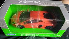 Welly Nex LAMBORGHINI AVENTADOR LP 700-4 1:24 Scala nuevo en caja coche