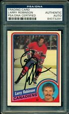 LARRY ROBINSON AUTOGRAPH AUTO SIGNED ON 1984 OPC #270 CANADIENS PSA/DNA Slabbed
