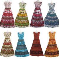 10 PC Lot Indian Women Maxi Long Dress Hippie Cotton Gypsy Bohemian Floral Kurti
