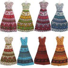 10 PC Lot Indian Women Maxi Long Dress Hippie Cotton Gypsy Bohemian Floral Dress