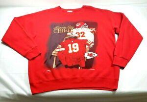 1994 Vintage Kansas City Chiefs Nutmeg Mills  Embroidered Sweatshirt Sz. Large