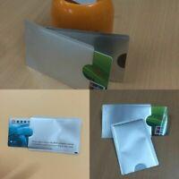 10X Kreditkarte-Schutzhülle Bankkarte Sichere RFID Folienabschirmung Halter R5G5