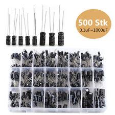 500x Elkos Elektrolyt Kondensatoren Capacitors bis 1000uF 24Werte Sortiment Kit