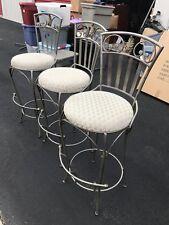 3 Vintage Steel Barstool Chairs