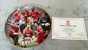 Liverpool FC Treble Winners Original Danbury Mint Plate