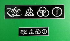 LOT 2PCS LED ZEPPELIN BAND B&W MEDIUM SYMBOLS LOGO SIGNS SMALL MUSIC STICKER