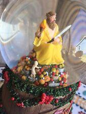 A Christmas Carol Snow Globe Music Box Ghost Fruit Sword Torch Disney